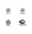 set of colorful photography logo template design vector image