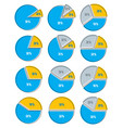set of infographic elements of circles circular vector image