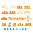 set of people user teamwork icon vector image vector image