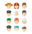 set of professional mans hats vector image vector image