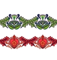 Set of seamless ethnic borders Indian style vector image vector image