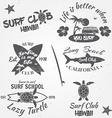 set retro vintage badges and labels vintage vector image