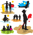 set silhouettes childhood vector image