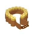 Shells belt cartoon icon vector image vector image