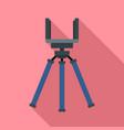 smartphone tripod icon flat style vector image