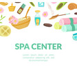 spa center banner template beauty salon store vector image vector image