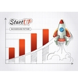 Start up new business project infographic with vector image vector image