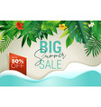summer sale banner design template vector image
