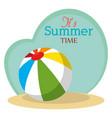 summer time with beach balloon vector image vector image