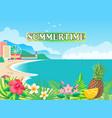 summertime poster seashore vector image