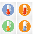 Thermometer icon with scale vector image vector image
