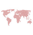 world atlas mosaic of mushroom icons vector image vector image