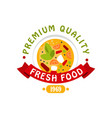 premium quality 1969 fresh food logo template vector image