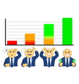 emotions of businessman when looking at graph vector image