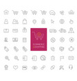 50 ecommerce and shopping thin line icons vector image vector image