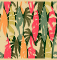 abstract seamless pattern with tropical palm vector image vector image