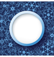 Abstract winter frame with snowflakes vector image vector image