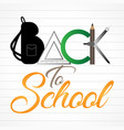 back to school banner design vector image vector image