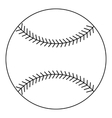Baseball ball icon outline style vector image vector image