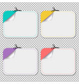 blanks advertising coupon cut from sheet paper vector image