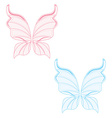 Blue and pink fairy wings vector image vector image