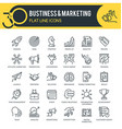 business and marketing outline icons vector image