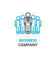 business company concept outline icon linear vector image
