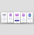 butt human body part onboarding icons set vector image vector image