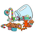 candy group cartoon vector image vector image