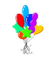 cartoon air balloons vector image vector image