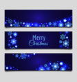 christmas snowflakes banners vector image vector image