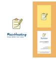 Clipboard creative logo and business card