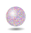 colored mosaic sphere vector image