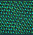 colorful green zigzag abstract background vector image vector image
