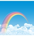 Colorful Rainbow With Cloud vector image