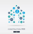 construction integrated thin line web icons vector image
