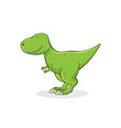 cute tyrannosaurus rex on white background vector image