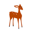 deer cartoon isolated vector image vector image