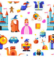 disneyland princess and wizards castle seamless vector image vector image