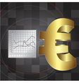 financial background with euro sign vector image vector image