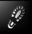 footprint boot sign gray 3d printed icon vector image vector image