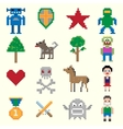 Game pixel characters vector image vector image