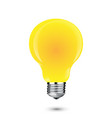 glowing yellow light bulb as inspiration concept vector image vector image