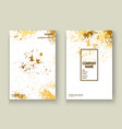gold explosion paint splatter artistic cover vector image vector image