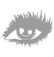 halftone human eye vector image