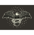 Hand Drawn American Egle vector image