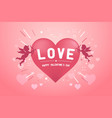 happy valentines day banner with love cupids vector image vector image