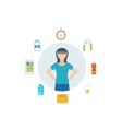 Healthy lifestyle fitness and physical activity vector image vector image