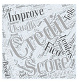 how to improve your credit score Word Cloud vector image vector image