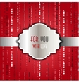 I love you words red background vector image vector image